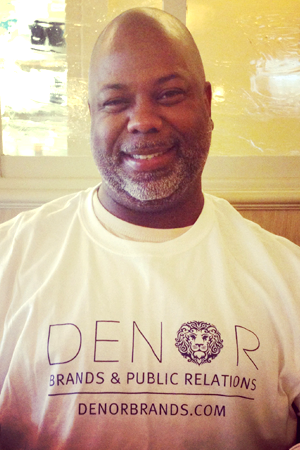 This is a recent picture of my Daddy. Isn't he adorable? And look: he's wearing a DB + PR shirt!